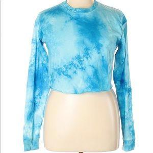 Rue21 Blue Tie Dye Crop Top XL